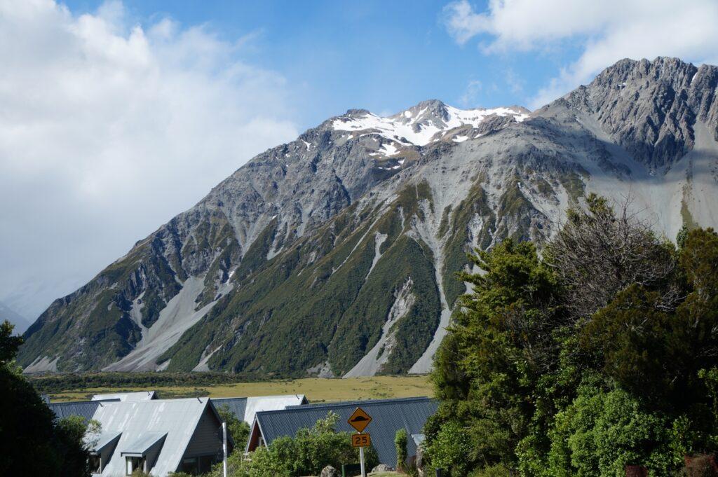 Overlooking Mt Cook Village